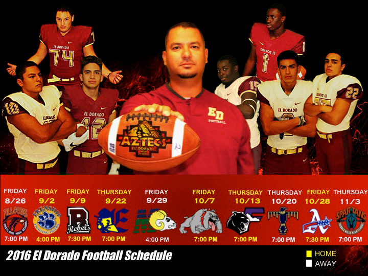 EDHS football schedule 16-17